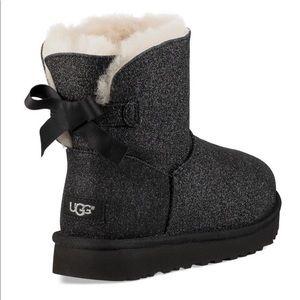 UGG women's black mini bailey bow sparkle boots